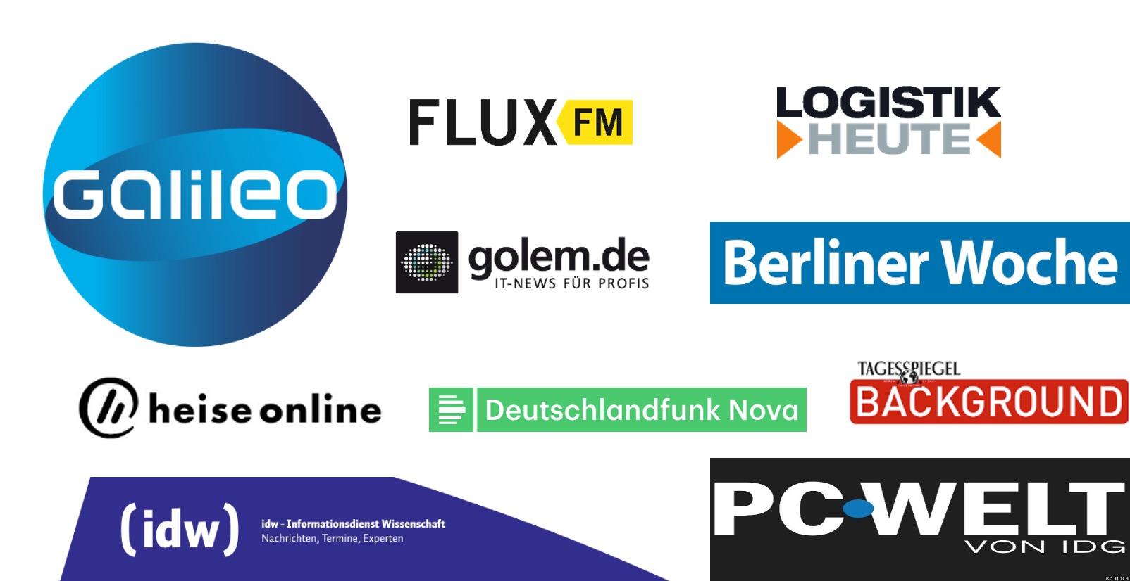 Der Kiezbote ist bekannt aus Galileo FluxFM Logistik Heute Golem.de Berliner Woche Heise Online Deutschlandfunk Nova Tagesspiegel Background IDW PC Welt